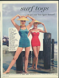 To Put Your Best Figure Forward Surf Togs Monterey And Caribe Swimsuits Ad 1956