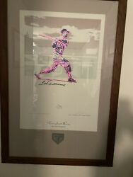 """Mlb Ted Williams """"the Hitter Nonpariel"""" Lithograph"""