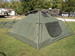 Military Surplus Soldier Crew Tent Army Self Standing Camping -10 X10 Camper Us