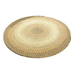 Super Area Rugs Ridgewood 4#x27; Round Braided Soft Synthetic Home Rug Taupe Beige