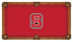 Nc State Wolfpack Hbs Red With White And Black Logo Billiard Pool Table Cloth