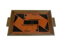 Rare Antique Avantgarde French Suprematism Art Deco Cocktail Tray Geometric 1930