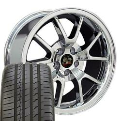Oew Fits 18x9 Wheels And Tires Ford Mustang Fr500 Chrome Rims W/ironman