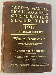 1917 Moodys Manual Of Railroads And Corps Securities Railroad Section Read And Co