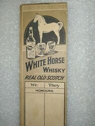 Vintage Beverage Paper Book Ad White Horse Blended Scotch Whiskey England Rare