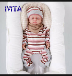 Ivita 18and039and039 Full Body Silicone Reborn Baby Cute Girl Doll Accompany Birthday Gift