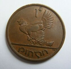 1948 Irish One Penny Coin Old Ireland 1d Excellent Example Great Details