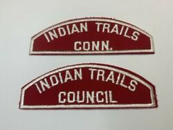Indian Trails Council Red White Scout Shoulder Patches