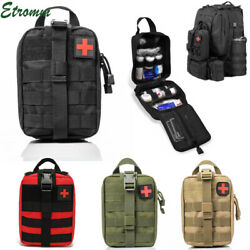 Tactical First Aid Kit Medical Molle Rip Away EMT IFAK Survival Pouch Bag