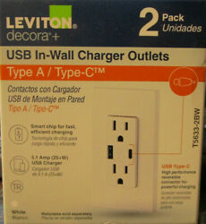 15 Amp Decora Tamper-resistant Duplex Outlet With Type A And C Usb Charger