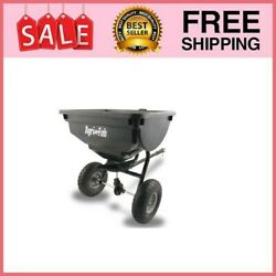 85 Lb Behind Broadcast Spreader Tow Hopper Fertilizer Seed Atv Lawn Tractor