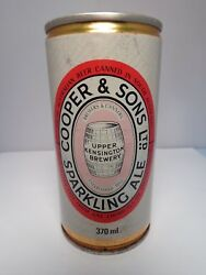 Cooper And Son Sparkling Ale 370ml. Crimped Steel Pull Tab Beer Can So. Australia