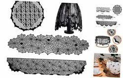 Halloween Lamp Shade Cover Fireplace Mantel Scarf Round Lace Tablecloth