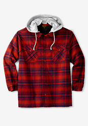 Boulder Creek By Kingsize Menand039s Big And Tall Andtrade Removable Hood Shirt Jacket