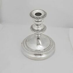 English Silver Mfg. Corp Silver Plate Candle Holder Made In Usa 7