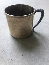 Rare Vintage Silver Plated Baby Or Childs Cup Farmhouse Decor Floral Chic 🌸💐🌷