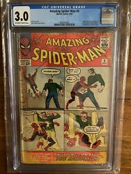 Amazing Spiderman 4 Cgc 3.0 Off White To White Pages First Appearance 1963