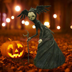 Halloween Realistic Witch Statue Decoration Scary Horror Witches Props Sale Us