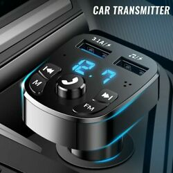 Car Wireless Bluetooth Fm Transmitter Mp3 Player Usb Car Charger Adapter New