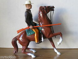 Vintage 1950and039s Hartland Jim Bowie W/semi-rearing Chestnut Scott Forbes Complete