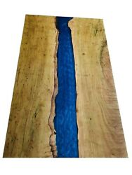 Custom Made Wooden Epoxy Table Top / Dining Table Top With Wood Working Tables