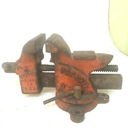 Vintage Wilton Scout Swivel Anvil Vise 3.5''jaws Cast Iron Vice W/pipe Grips