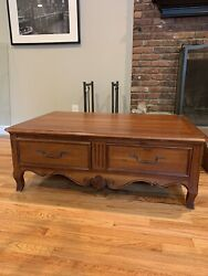 Ethan Allen French Country Style Maison 'lasalle' Coffee Table