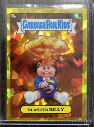Garbage Pail Kids Sapphire Gold Parallel 🔥 Blasted Billy 🔥 Number 12 Of 15