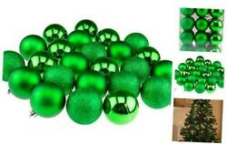 Shatterproof Christmas Tree Ornaments Large 60mm Variety Pack Christmas Green