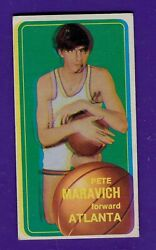 1970 Topps 123 Pete Maravich Rc Rookie, Ex W/ Extreme Out Of Focus Oddball