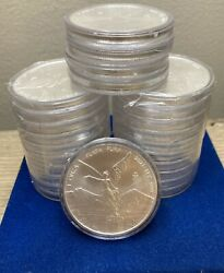 2021-mexico Libertad 1 Oz .999 Silver Very Limited Bu Packs Of 25-1 Oz Coins