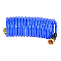 Hs1500hp Hosecoil 15' Blue Self Coiling Hose With Flex Relief Boat Cleaning