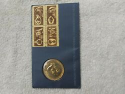 American Revolution Bicentennial Commemorative Medal Coin And Stamp Collector Pack