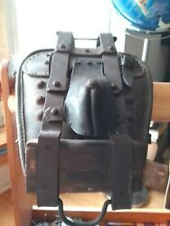 Antique Pack Horse/ Mule Saddle, Ex Military /gold Rushrare With Its Cruper