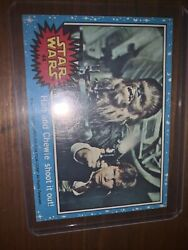 Star Wars 1977 Tops 20th Century Fox Card Han And Chewie Shoot It Out