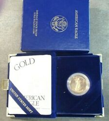 1999-w Gold Proof 25.00.gold Eagle 1/2 Oz Coin In Complete Ogp No Problems