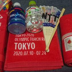 Tokyo 2020 Olympics Official Items Of Cheering Goods Coca-cola Towel Folding Fan