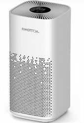 H13 HEPA Air Purifier For Large Rooms 1540 Sq Ft Coverage 5 Wind Speeds Quiet