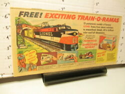 Newspaper Ad '50s Nabisco Lionel Train-o-rama Premium Ideal Toy Robot Roy Rogers