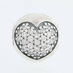 New Authentic Pandora Love Of My Life Clip Sterling Silver 791053cz Heart Charm