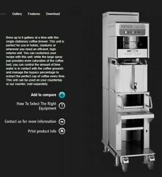 Fetco CBS 71AC Coffee Brew and Dispenser Station