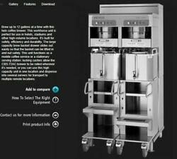 Fetco CBS 72AC Coffee Brewer and Dispenser Station