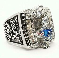 Super Bowl New England Patriots Menand039s Ring 2003 In Solid 935 Argentium Silver