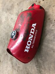 1979 Honda Atc70 Gas Tank Right Side Dent And Patched Bottom 2