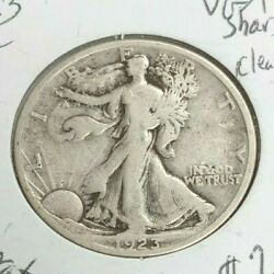 1923 S Standing Liberty Half Dollar Vg/f Cleaned L408