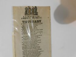 A New Song On The Amnesty Meeting In Tipperary C-18 Irish Ballad Sheet Song