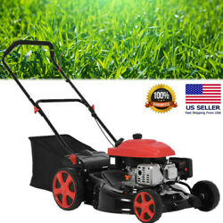 161cc 20-inch 2-in-1 High-wheeled Fwd Self-propelled Gas Powered Lawn Mower Us