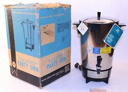Vtg Mcm Manning Bowman Party Coffee Urn Stainless Automatic 30 43506 Percolator