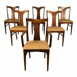 Mid-century Modern Dining Chair Set Of 6 By Garrison Furniture Free Ship