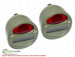 Pair Military Cat Eye Rear Tail Light 4'' For Willys Mb Ford Gpw Jeeps Truck New